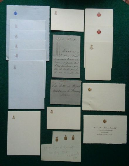Antique Stationery Signed Letter Russian Aristocrat Prince Princess Kudashev
